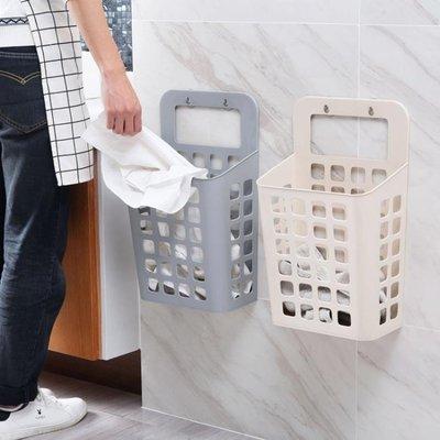 吸盤掛式髒衣籃髒衣服收納筐 塑料收納籃大號髒衣簍洗衣籃WY
