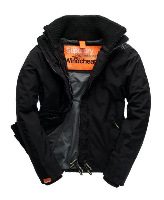 全新真品極度乾燥Superdry Technical Windcheater Black 風衣外套(真品無剪標)