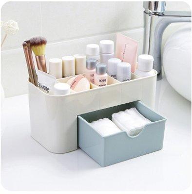 LIOU栗欧~多功能首飾盒儲物盒塑料桌面化妝盒帶小抽屜辦公桌遙控器收納盒