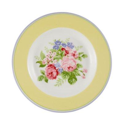 GreenGate Small Plate - Rose Pale Yellow