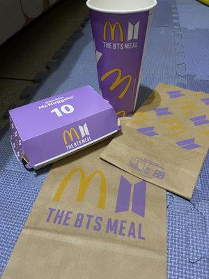 全新 麥當勞 BTS 紙杯 盒子 紙袋