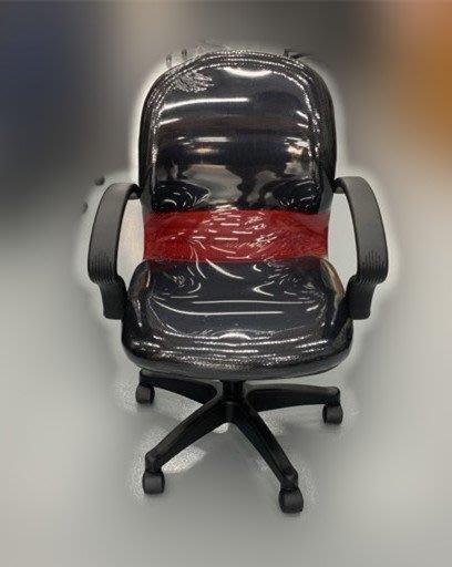 【宏品二手家具】二手推薦宏品全新二手家具家電買賣 EA150-2Gj*全新黑紅扶手網辦公椅* 主管桌椅/會議桌椅/洽談桌