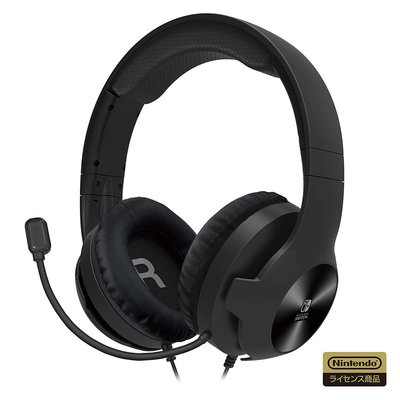 全新 NS Switch Lite Gaming Headset Standard 黑色耳機 (日版, HORI)
