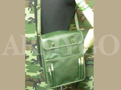 【ARMYGO】軍綠色防水油面帆布洽公袋