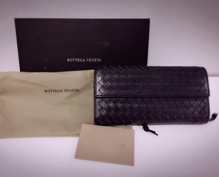 Bottega veneta暗藍長夾 二手好物分享