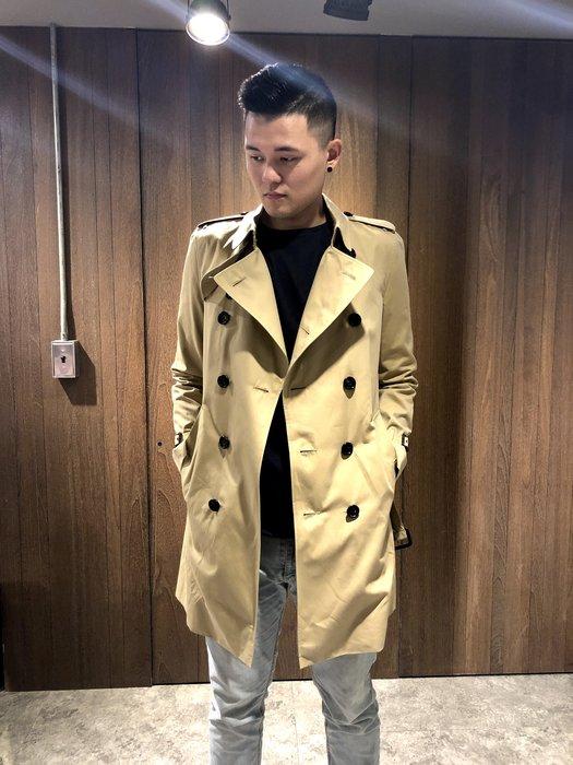 美國百分百【全新真品】Burberry 外套 紳士風衣 雙排扣 長大衣 英倫 長版 卡其色 K128