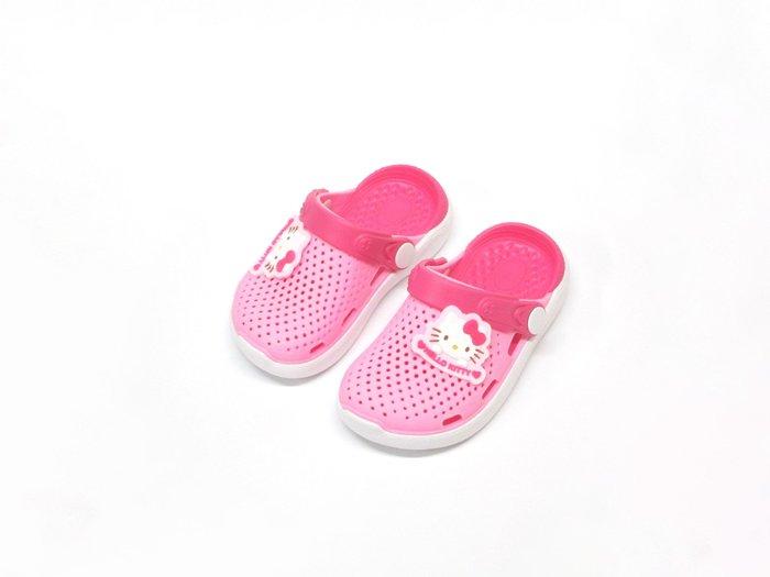 【819275】☆.╮莎拉公主❤涼鞋拖鞋2穿Hello Kitty 凱蒂貓平底拖鞋/童鞋/兒童涼鞋/女童14~15cm