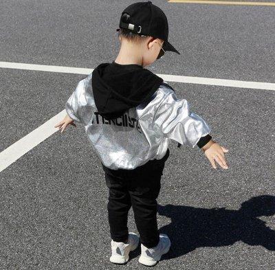 男童皮衣外套 韓版潮流小童秋裝寶寶秋冬兒童夾克外套—莎芭