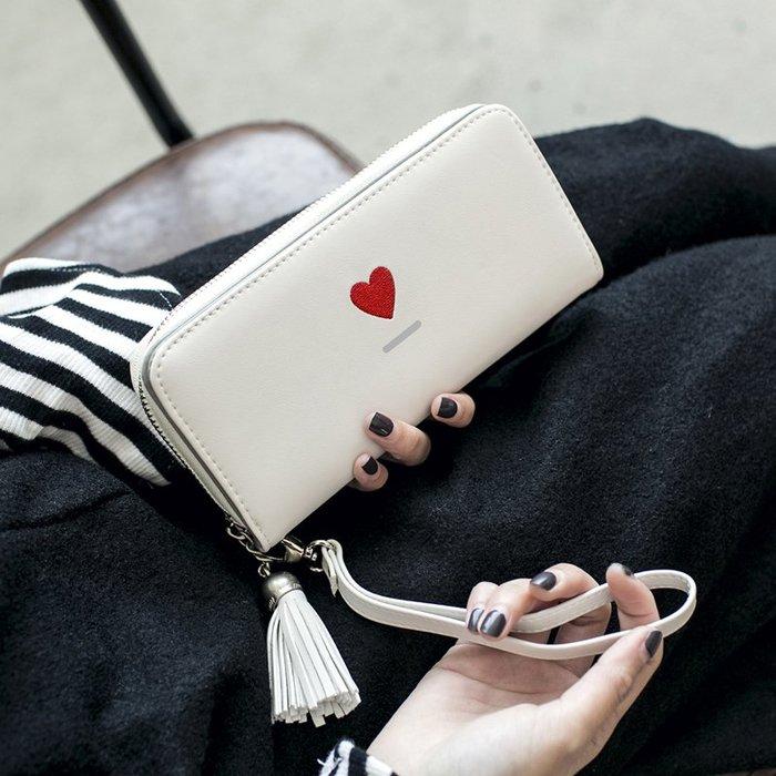 [包妳喜歡]女士手拿錢包2019新款女韓版潮個性學生拉鏈多功能長款大容量皮夾007