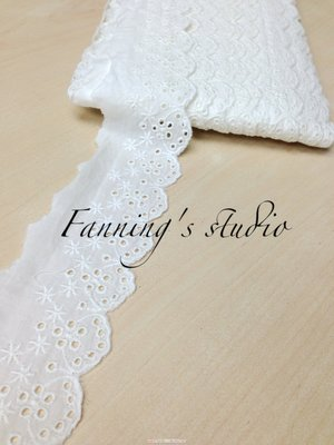【芬妮卡Fanning服飾材料工坊】底部摟空三角小花蕾絲 高6cm 1碼入