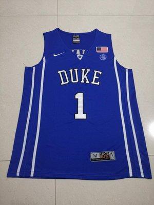 錫安·威廉森(Zion Williamson)NBA美國杜克大學 NCAA Basketball 1號 藍色