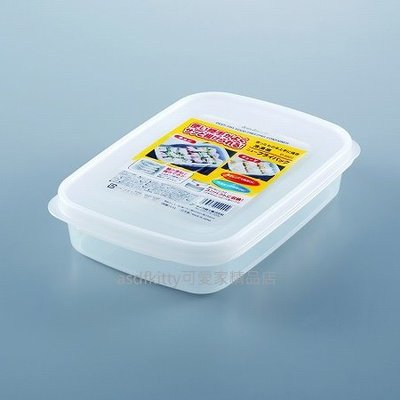 asdfkitty*日本製-SANADA扁型透明保鮮盒/收納盒-1.5L-裝冷凍水餃.壽司…等