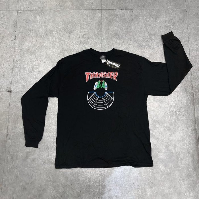 【FAITHFUL】THRASHER DOUBLES L/S TEE【144696】長TEE 黑