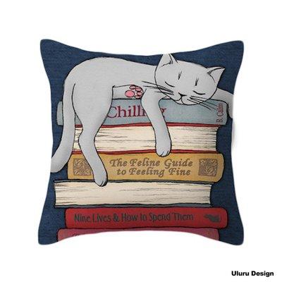 歐美風格 Cat 小貓咪 抱枕 枕套/枕芯 Uluru Design 客廳 Loft工業風 鄉村風 居家裝飾
