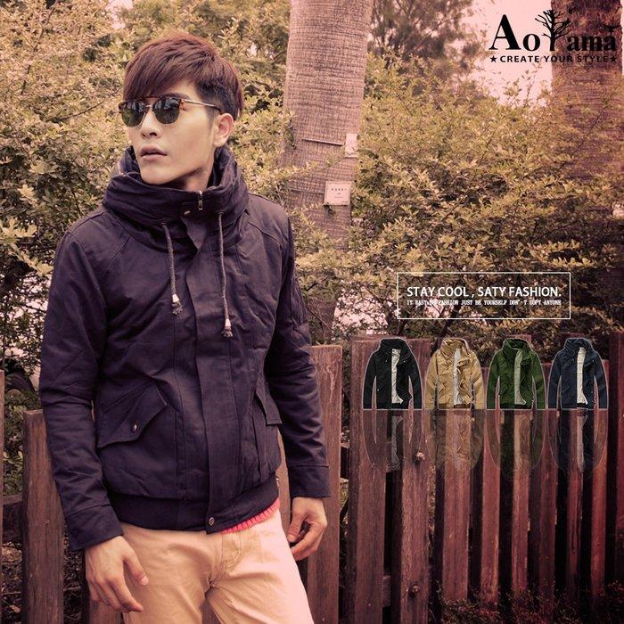 軍裝外套 禦寒必備內裏保暖絨毛挺實立領設計軍裝外套【X8212】青山AOYAMA 短大衣