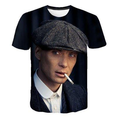 發現美 【英爵倫】  peaky blinde 3DT恤 男女數碼印花T恤男女短袖T