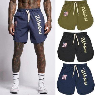 運動褲 運動短褲 肌肉兄弟新款夏季健身健美短褲男 速幹籃球深蹲慢跑海邊運動沙灘褲