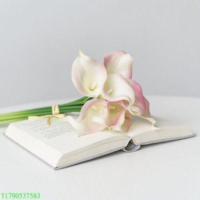仿真花假花絹花塑料花 保濕PU馬蹄蓮插花客廳臥室裝飾花 BU#275