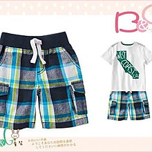 【B& G童裝】正品美國進口Crazy8 藍色格子短褲18-24m,2yrs