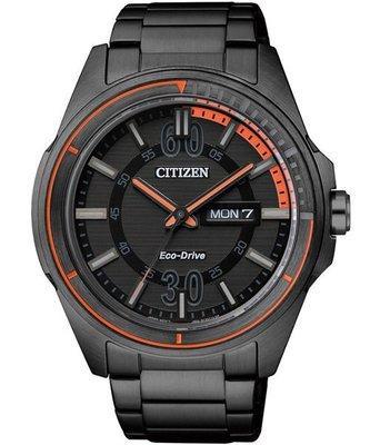 CITIZEN Eco-Drive 光動能時尚腕錶(AW0035-51E)-黑/ 43mm 新北市