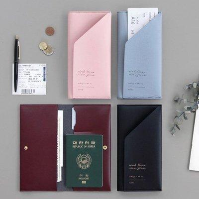 ❅PAVEE❅ 韓國iconic~Slit Passport Wallet 分割美學 可扣式 長款皮革護照夾.護照夾