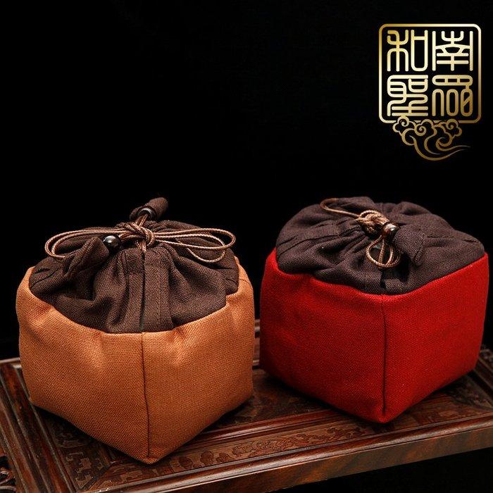 宏美飾品館~中式家居茶道棉麻布藝茶具袋首飾袋茶壺茶杯袋保護布袋器物收納袋
