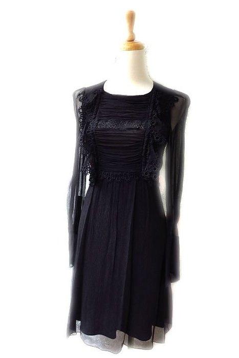 *Beauty*Chloe黑色雪紡長袖洋裝 38號 19800元 WE17 加圖