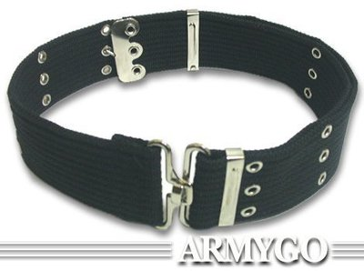 【ARMYGO】黑色T型扣 S腰帶