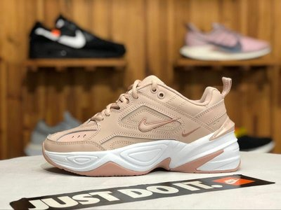 Nike Air M2K Tekno 粉白 經典復古 厚底 老爹鞋 休閒運動慢跑鞋 AO3108 202 女鞋