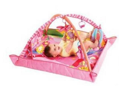 寶寶音樂燈光五彩遊戲毯粉色