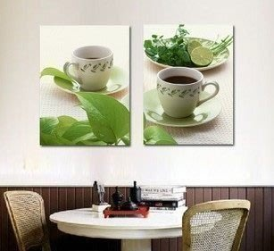 【優上精品】餐廳簡歐無框畫 現代沙發客廳裝飾畫 簡約對拼版畫(Z-P3232)