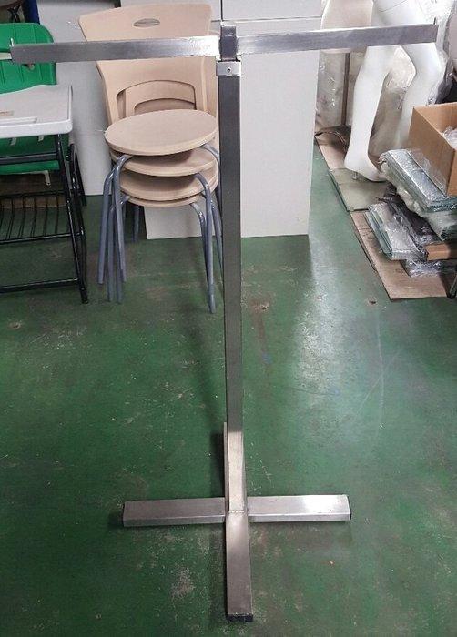 桃園國際二手貨中心--------不鏽鋼製 T行伸縮吊衣桿  伸縮吊衣架 不鏽鋼衣架