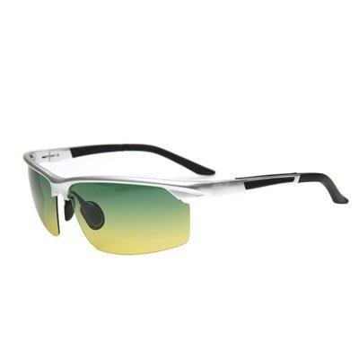 太陽眼鏡 偏光日夜視鏡-運動騎行時尚半框男墨鏡2色73nm26[獨家進口][米蘭精品]