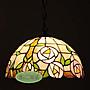 凱西美屋 12寸手工製作蒂芬尼玫瑰吊燈 餐廳...