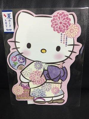 【莓莓小舖】正版 ♥ Sanrio 三麗鷗 Hello Kitty 和風卡片