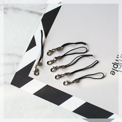 【贈品禮品】B3480 DIY吊飾細繩/問號鉤手機繩/龍蝦扣鑰匙圈/手作飾品材料/手創掛飾/文創小物/贈品禮品