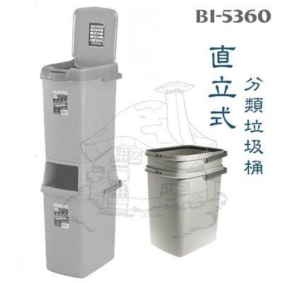 翰庭 BI-5360 直式分類雙層垃圾桶/40L 雙格環保垃圾桶 台灣製