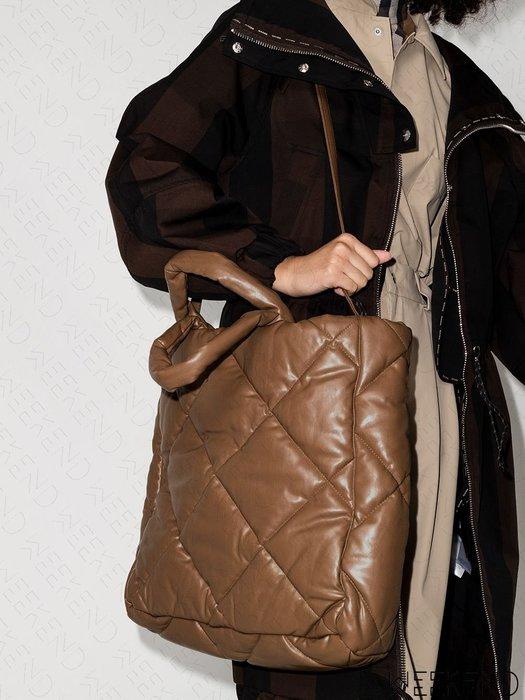 【WEEKEND】 STAND STUDIO Assante 空氣包 手提包 托特包 肩背 斜背 咖啡色