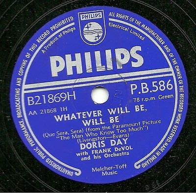 Doris Day Whatever will be will be 西洋老歌 78轉 蟲膠唱片 電木唱片