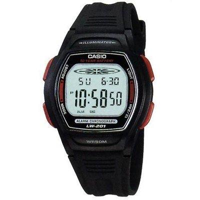 【幸福媽咪】CASIO 卡西歐 公司貨,10年電力,電子錶,大型螢幕,防水50米,碼錶計時 LW-201-4A