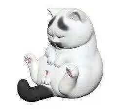 全新貓鈴鐺 空想造物 慵懶貓 坐姿 療癒系 辦公室小物