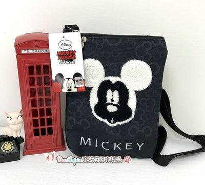 (現貨在台)韓國正品Disney迪士尼 斜背包帆布包小包平面包 單肩包 隨身包 立體Micky米奇款