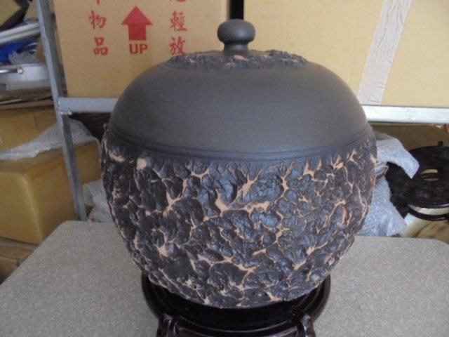 頂級紅土4號 約15斤 手拉坏 茶葉罐 普洱茶 罐 老茶 醒茶 米甕 聚寶盆 收納罐 #2平光黑