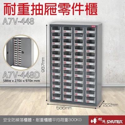 超值組合3台入~樹德 A7V-448 48格抽屜 裝潢 水電 維修 汽車  包膜 精密 車床 電器 耐重抽屜零件櫃