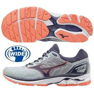 野球人生---MIZUNO WAVE RIDER 21 女寬楦慢跑鞋 J1GD180603