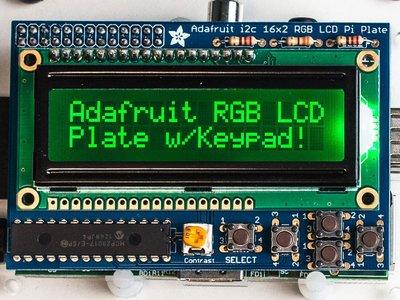 【樹莓 ℼ Raspberry pi】RGB Negative 16x2 LCD+Keypad Kit for Rasp