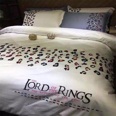 美式風格純棉不縮水不掉色加大雙人床包組...