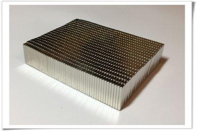 釹鐵硼磁鐵-20mmx4mmx2mm--這個常被用來做磁吸式盒蓋哦!