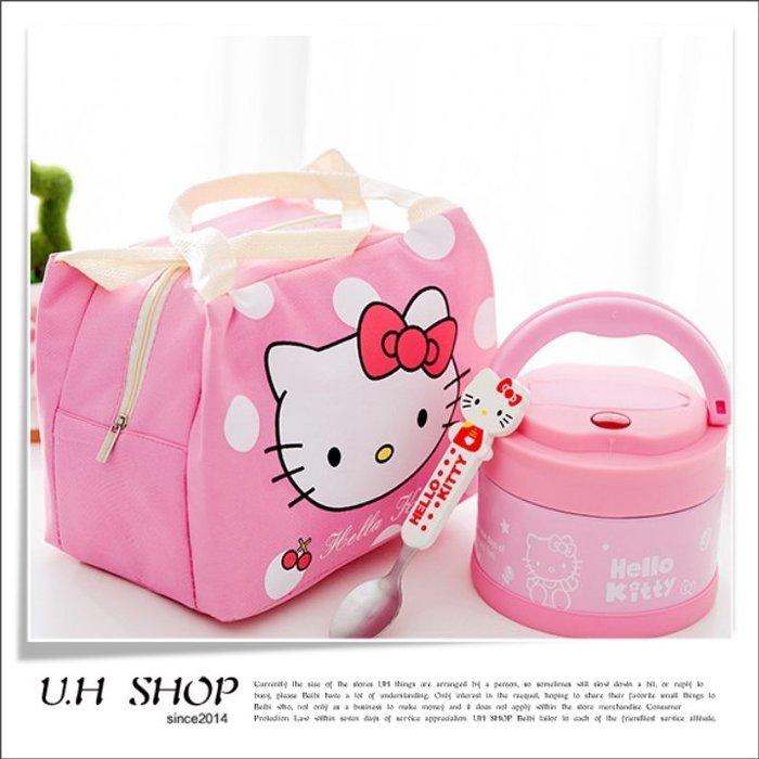 【 U.H SHOP】HELLO KITTY 凱蒂貓 不鏽鋼兩層保溫便當盒