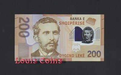 【Louis Coins】B246-ALBANIA-2017阿爾巴尼亞塑膠鈔票200 Leke